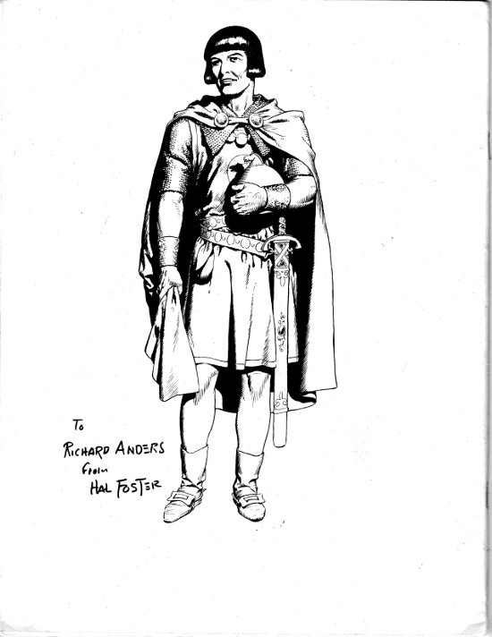 Prince Valiant Back Cover by Hal Foster