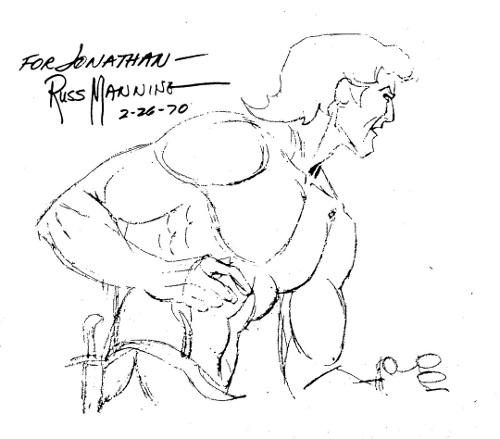 Tarzan Sketch by Russ Manning