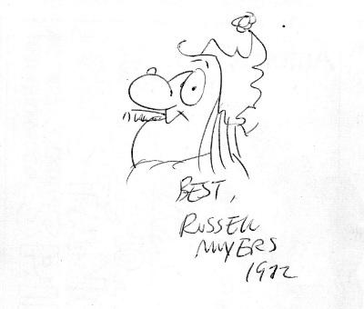 Russell Myers Sketch of Broom Hilda