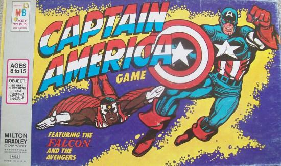Captain America 1977 Board Game