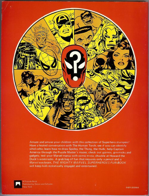 Mighty Marvel Superheroes Fun Book rear cover