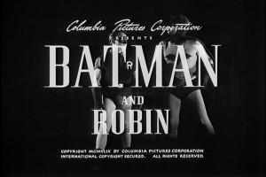 Batman! Robin! Utterly baffled by credits!