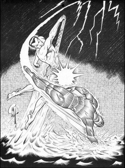 Sub-Mariner vs the Torch by Bill Everett