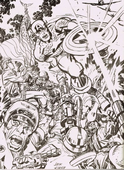 Captain America by Jack Kirby