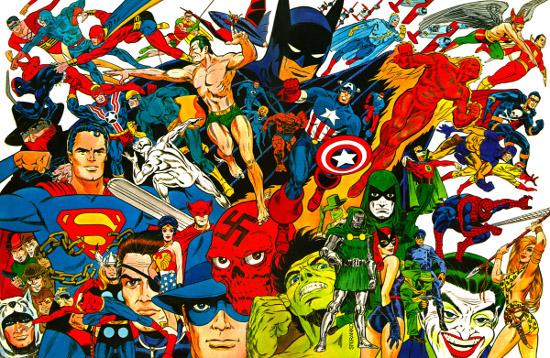 The Steranko History of Comics full wrap around cover