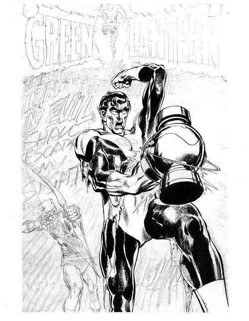 Green Lantern Green Arrow # 76 original cover design pg 09