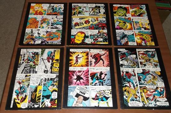 Marvel Mead Folders backs