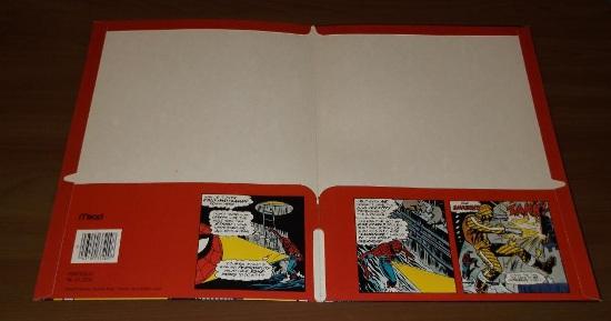 Marvel Mead Spider-Man Folder interior