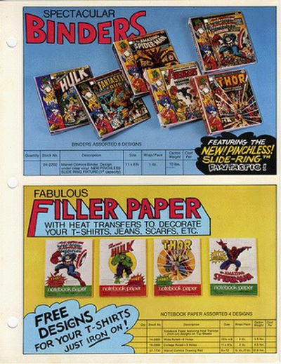 Marvel Mead binders and paper
