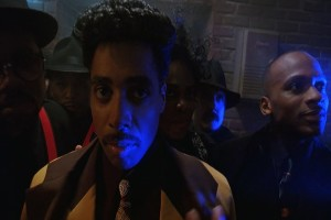 """Morris Day & The Time. Their catchphrase is """"Jerkin' everything in sight""""."""