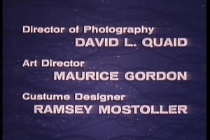 Notice anything off about the credits here? If so, you're better than the film's editor.