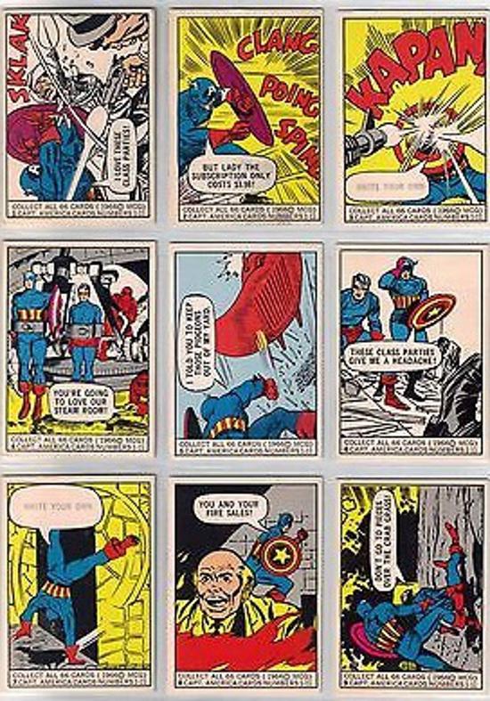 1966 Marvel Donruss Captain America subset