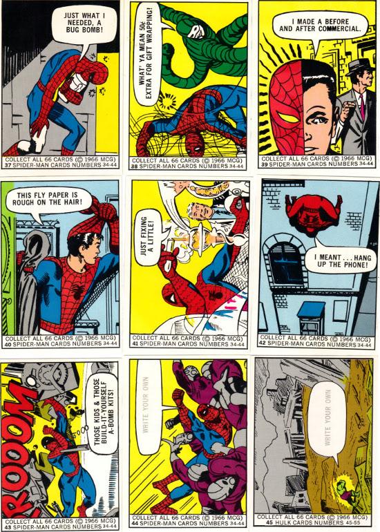 1966 Marvel Donruss Spider-Man subset