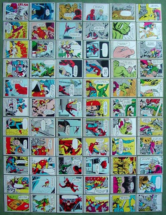 1966 Marvel Donruss Super Hero complete set