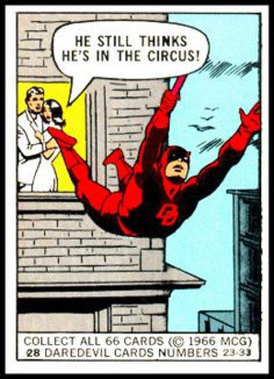 Marvel Donruss Super Hero card # 28