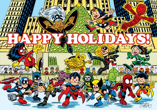 Happy Holidays by Chris Giarrusso and the Marvel characters