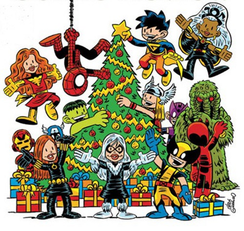 Marvel Tree decorating by Chris Giarrusso