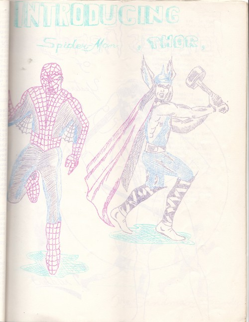 Introducing Spider-Man and Thor by Mike Vosburg