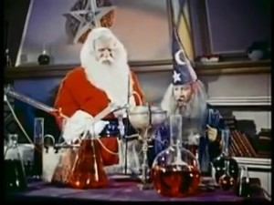 Santa may be King Arthur in this movie, BTW.
