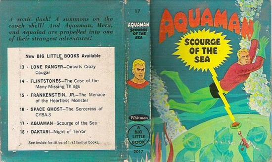 Aquaman Big Little Book covers