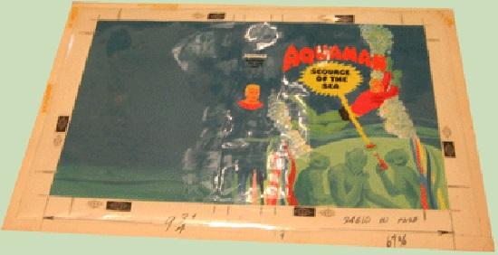 Aquaman Big Little Book original art