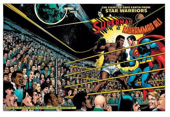 Superman vs Muhammad Ali wrap-around cover    1978