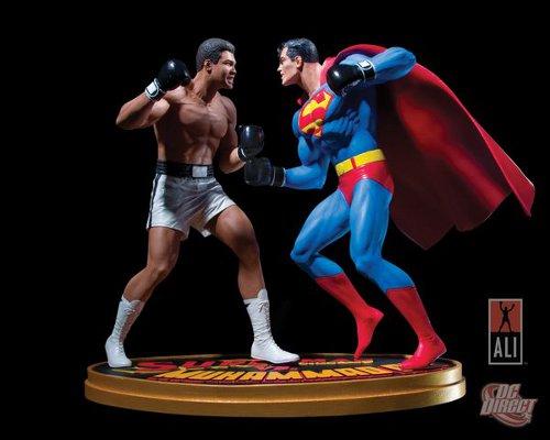 Superman vs Muhammad Ali statue