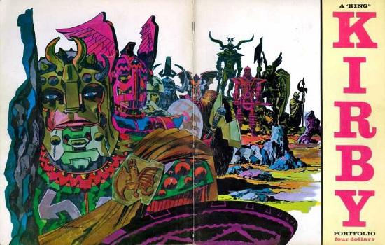 Wrap around Kirby Portfolio cover 1971