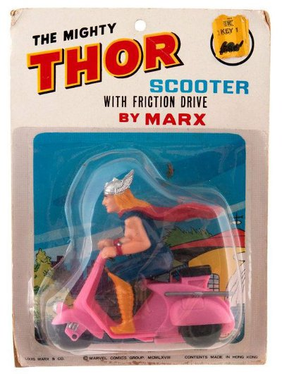 1967 Thor Marx scooter on card