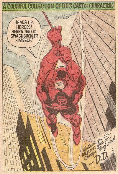 Daredevil pin-up by Gene Colan