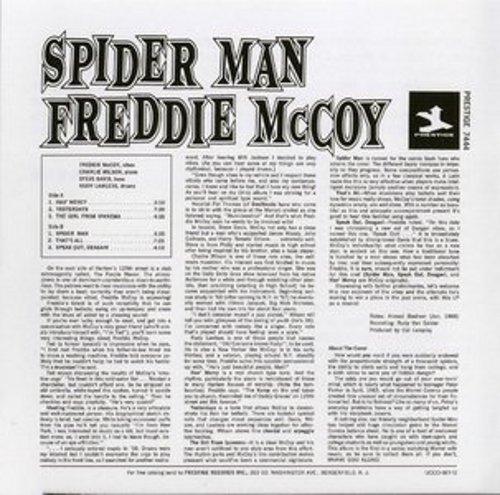 Freddie McCoy album cover back