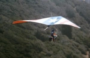 Who needs The Falcon when you have a sweet hang glider?