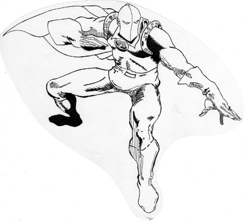 Dr Fate drawing by Greg Turner based on Walt Simonson's splash panel