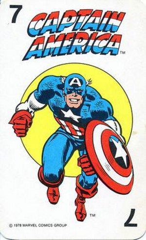 1978 Marvel Card Game Captain America Card