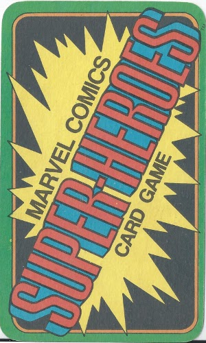 1978 Marvel Card Game Card Back