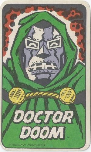 1978 Marvel Card Game Doctor Doom Card