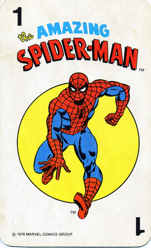 1978 Marvel Card Game Spider-Man Card