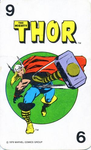 1978 Marvel Card Game Thor Card
