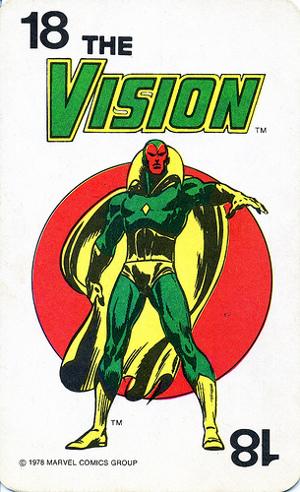 1978 Marvel Card Game Vision Card
