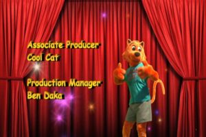 Ben Daka provides the pull quote on the box. He's also credited lower than the mascot costume.