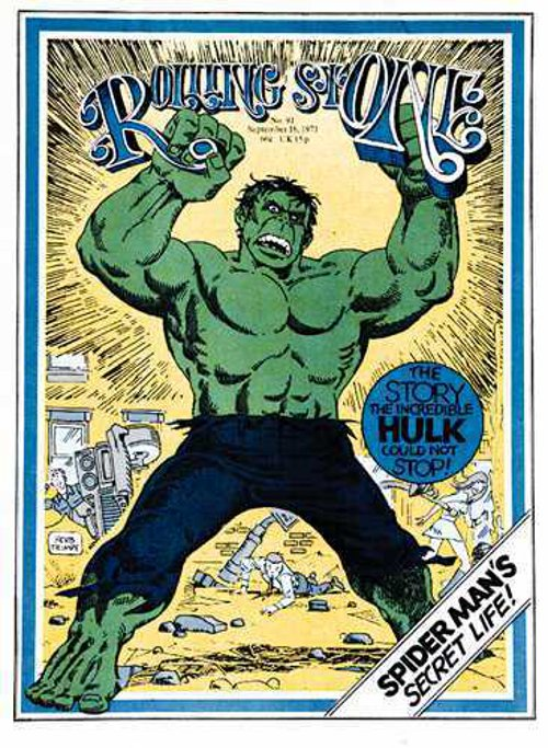 Rolling Stone 09-16-1971 cover by Herb Trimpe