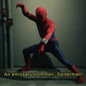 """""""Friendly Neighborhood"""" has a different meaning in Japan, I guess."""