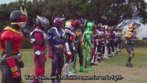 In this corner, the Heisei Riders!