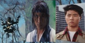 Side note: Turns out that Kane Kosugi, who plays Hayate in DOA, starred as NinjaBlack in the Tokusatsu series Kakuranger. I wish I'd planned this transition.