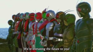 In this corner, the Showa Riders!
