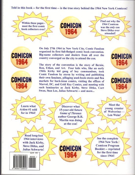 1964 New York Comicon book back cover