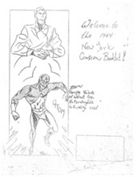 1964 New York Comicon booklet back cover