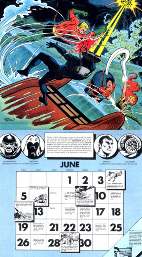 1977 DC Calendar June full 2 page spread