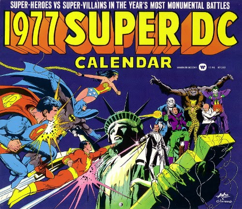 1977 Super DC Calendar front cover by Neal Adams