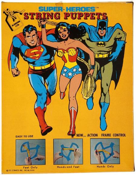 1977 Batman string puppet box (reverse)